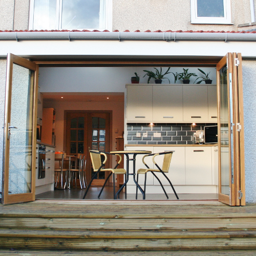 Conversion of a conservatory into a kitchen & dining room