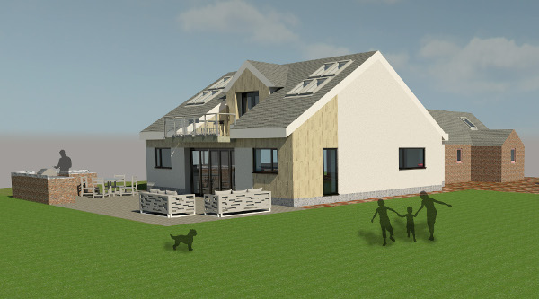 Proposed design for steading extension